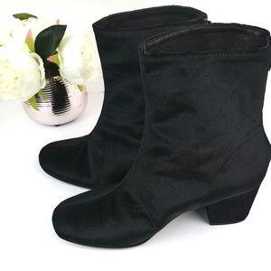 Free People Cecile Ankle Velvet Black Boots